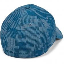 UA Printed Blitzing 3.0 Stretch Fit Cap, Blue