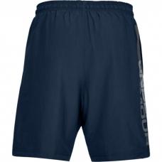UA Woven Graphic Wordmark Shorts, Navy/Grey
