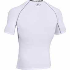 UA HeatGear Armour Short Sleeve Compression Shirt, White