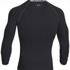 UA HeatGear Armour Long Sleeve Compression Shirt, Black